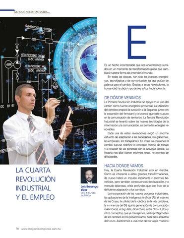 Page 18 of La Cuarta Revolución Industrial y el empleo