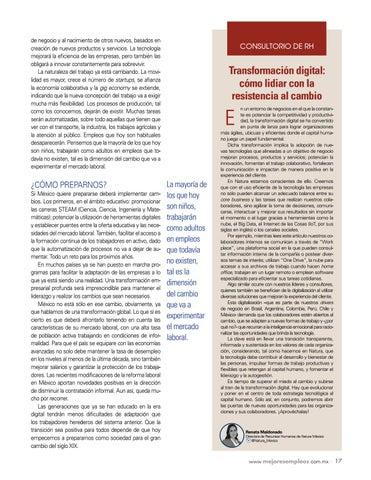 Page 19 of La Cuarta Revolución Industrial y el empleo
