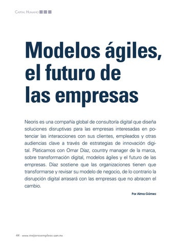Page 46 of Modelos ágiles, el futuro de las empresas