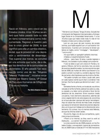 Page 61 of Leni Álvarez: La dreamer que lucha por la inserción laboral