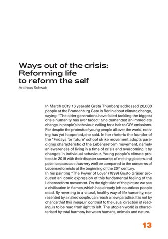Page 13 of Ways out of the crisis: Reforming life to reform the self