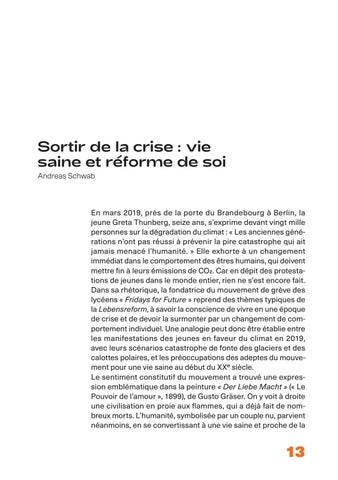 Page 13 of Sortir de la crise: vie saine et réforme de soi