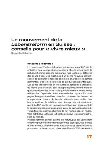 Page 17 of Le mouvement de la Lebensreform en Suisse: conseils pour «vivre mieux