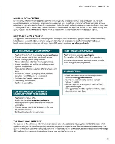 Page 11 of Admissions Process