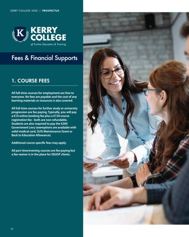 Page 12 of Fees and Financial Supports