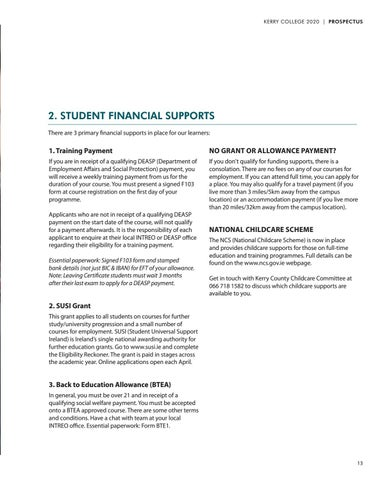 Page 13 of Fees and Financial Supports