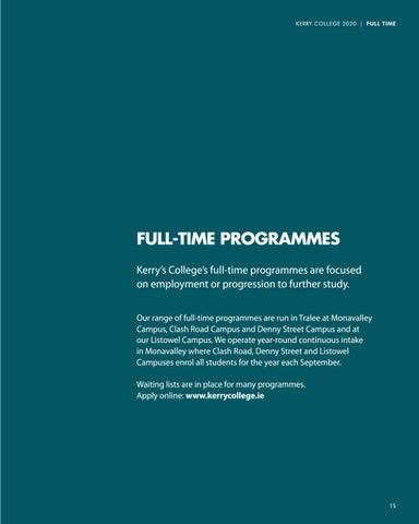 Page 15 of Full Time Courses