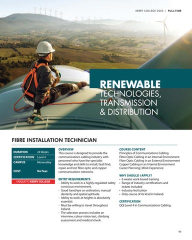Page 65 of Renewable Technologies, Transmission & Distribution