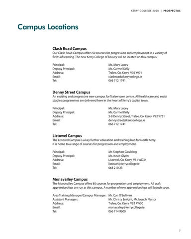 Page 7 of Campus Locations