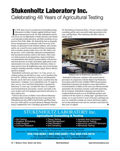 Page 10 of Celebrating 48 Years of Agricultural Testing