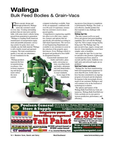 Page 14 of Walinga – Bulk Feed Bodies & Grain-Vacs