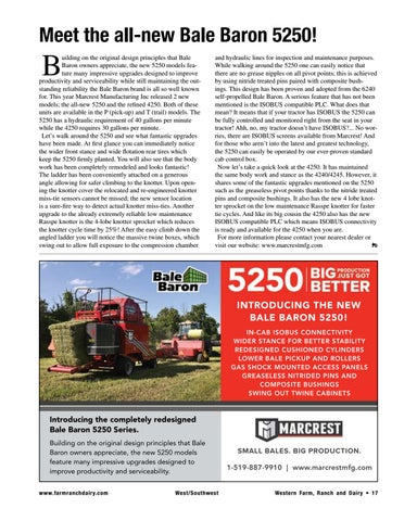 Page 17 of Meet the all-new Bale Baron 5250