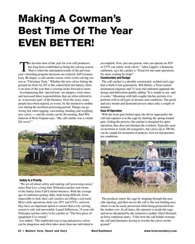 Page 22 of Making A Cowman's Best Time Of The Year EVEN BETTER