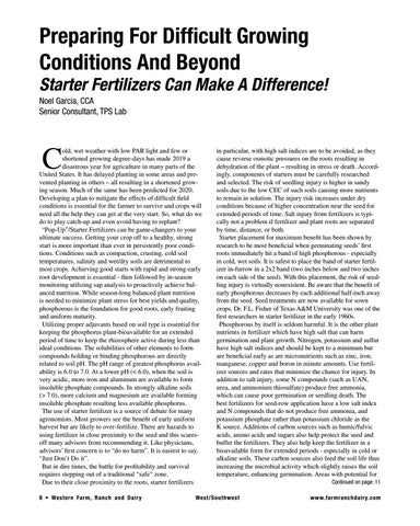 Page 8 of Starter Fertilizers Can Make A Difference