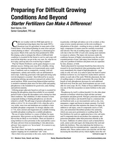 Page 12 of Starter Fertilizers Can Make A Difference