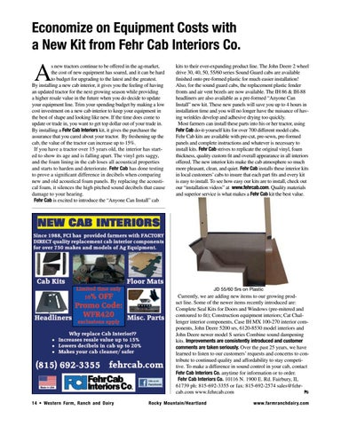 Page 14 of a New Kit from Fehr Cab Interiors Co