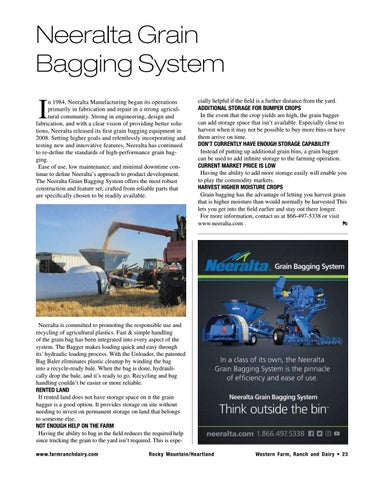 Page 23 of Neeralta Grain Bagging System