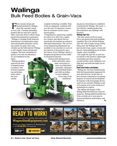 Page 26 of Walinga – Bulk Feed Bodies & Grain-Vacs