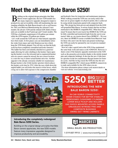 Page 28 of Meet the all-new Bale Baron 5250