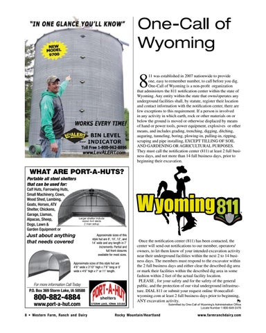 Page 8 of One-Call of Wyoming