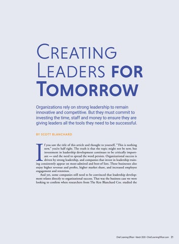Page 21 of Creating Leaders for Tomorrow