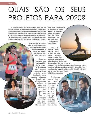 Page 18 of Quais são os seus projetos para 2020?