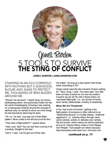 Page 15 of 5 TOOLS TO SURVIVE THE STING OF CONFLICT