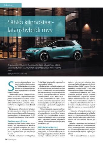 Page 12 of Sähkö kiinnostaa - lataushybridi myy