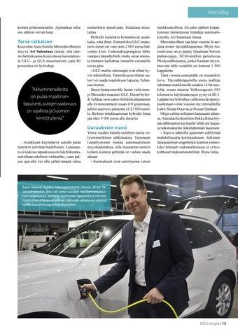 Page 13 of Sähkö kiinnostaa - lataushybridi myy