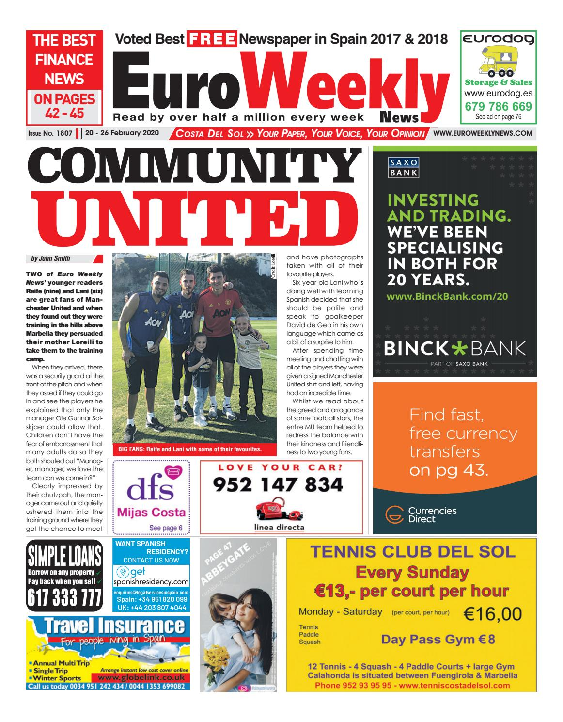 Euro Weekly News Costa Del Sol 20 26 February 2020 Issue 1807