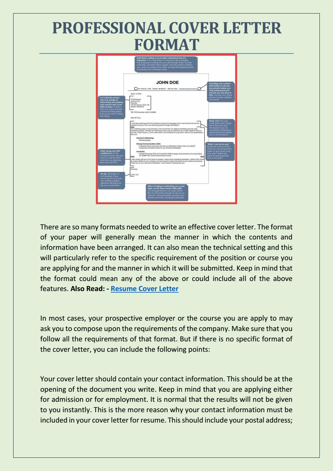 Professional Cover Letter Formats from image.isu.pub