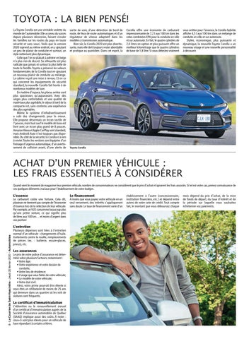 Page 8 of Toyota Corolla, la dynamique