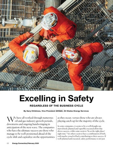 Page 20 of EXCELLING IN SAFETY