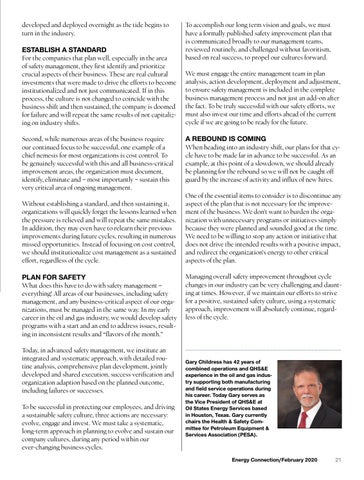 Page 21 of EXCELLING IN SAFETY