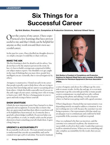 Page 22 of SIX THINGS FOR A SUCCESSFUL CAREER