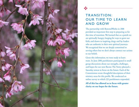 Page 19 of TRANSITION: OUR TIME TO LEARN AND GROW