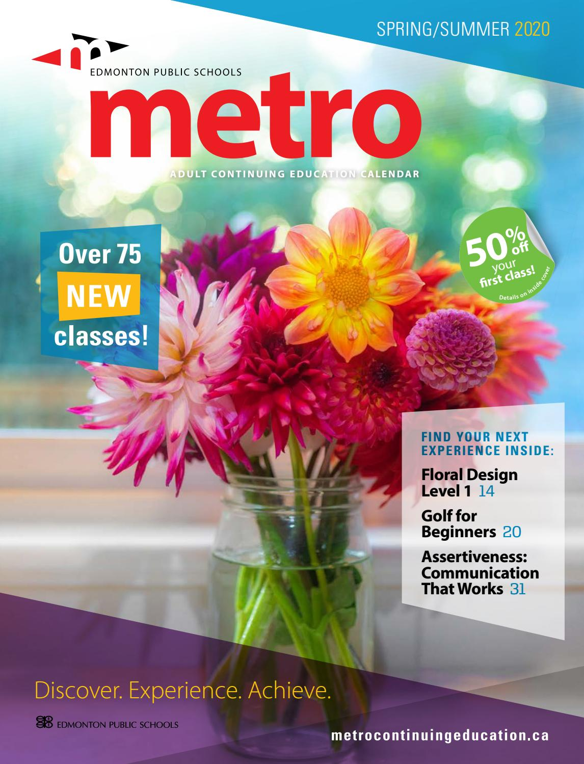 Metro Continuing Education Spring Summer 2020 By Metro Continuing Education Issuu