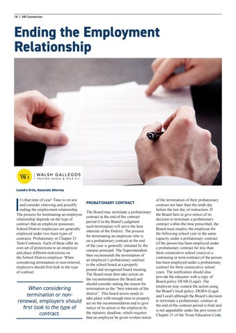 Page 18 of Ending the Employment Relationship