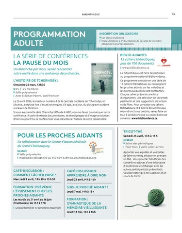 Page 19 of Programmation adulte