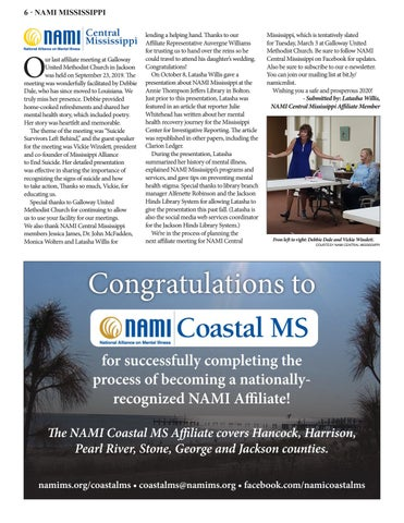 Page 6 of NAMI Central Mississippi Update