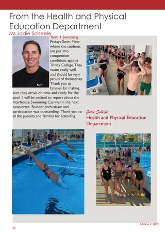 Page 18 of From Head of Health and Physical Education