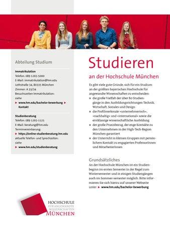 Studieren An Der Hochschule Munchen Allgemeiner
