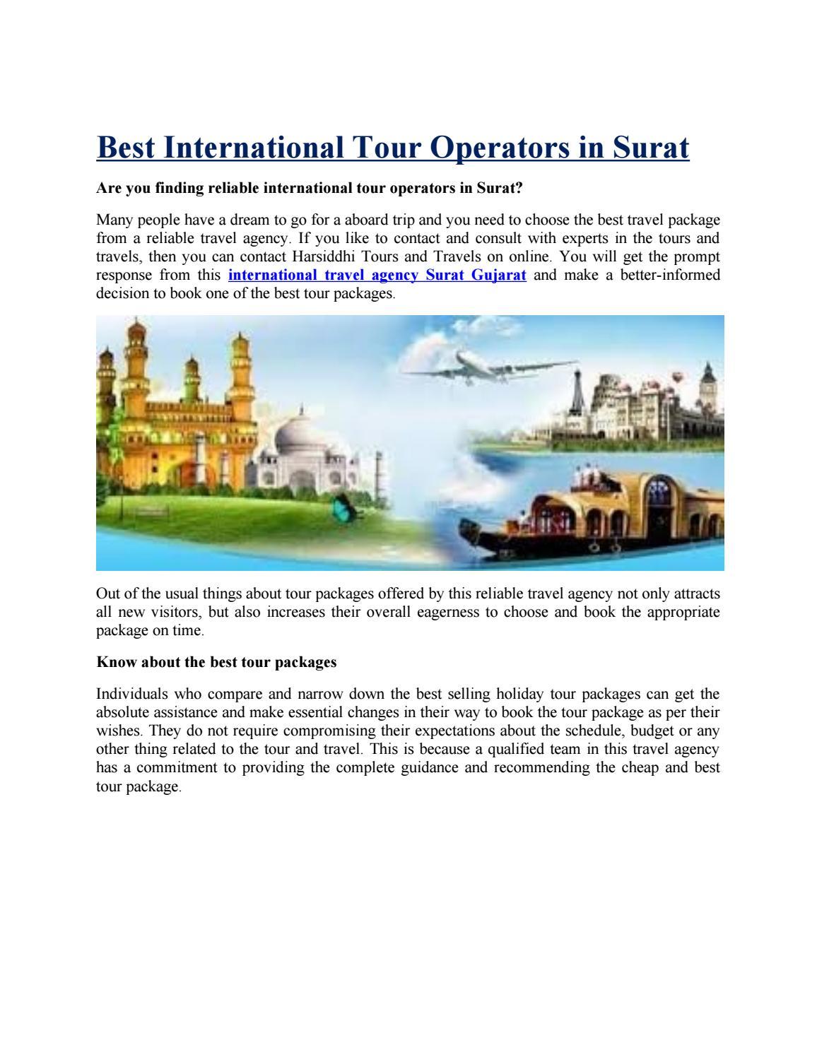 Best International Tour Operators in Surat