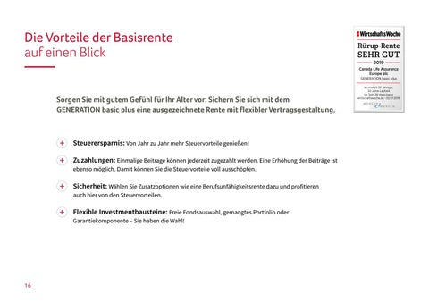 Page 16 of Die Vorteile der Basisrente