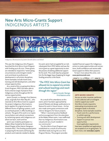 Page 6 of New Arts Micro-Grants Support Indigenous Artists