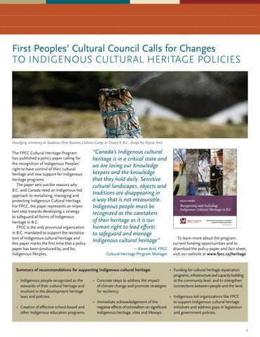 Page 7 of FPCC Calls for Changes to Indigenous Cultural Heritage Policies