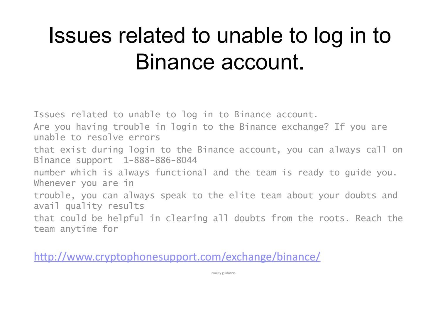 binance contact number