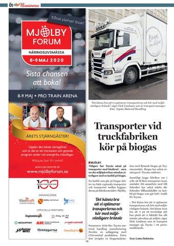 Page 16 of Transporter vid truckfabriken kör på biogas