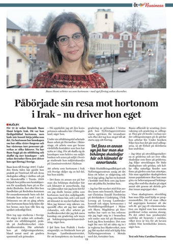 Page 19 of Startade i Irak - nu hortonom i Sverige