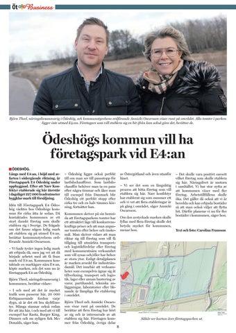 Page 8 of Ödeshögs kommun vill ha företagspark som syns från E4:an